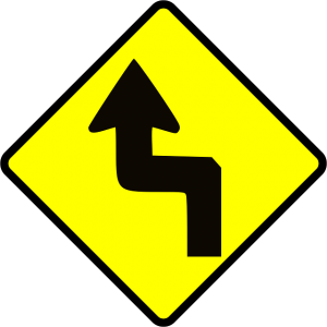 zigzag street sign