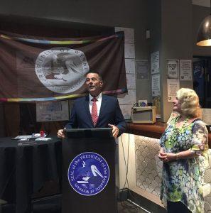 President John Shepherd and former President Yvonne Merriman